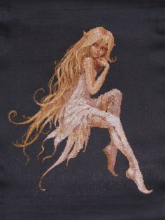 Cross stitch fairy
