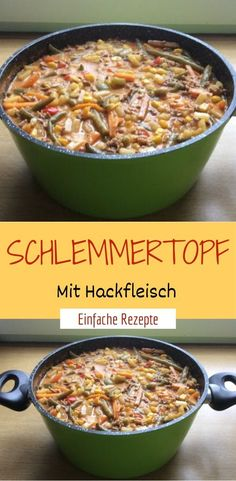 Gourmet pot with minced meat # minced meat # baking # gourmet pot - Rezept - Gourmet pot with minced meat Minced meat bake pot Informations About Schlemmertopf Mit - Apple Recipes, Meat Recipes, Salad Recipes, Chicken Recipes, Dinner Recipes, Dog Burger, Spinach Health Benefits, Healthy Body Weight, The Best
