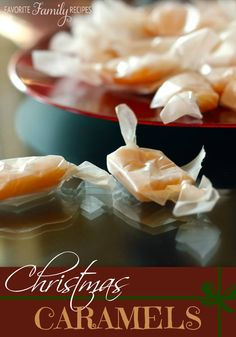 Fav. Family Recipes.  These homemade caramels are my favorite! #homemadecaramels #caramelrecipe #christmascaramels