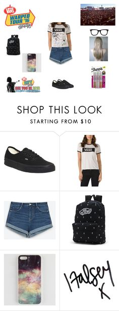 """""""Warped Tour 2016"""" by purdy-coma ❤ liked on Polyvore featuring Vans, Zara, Ankit, Amy Winehouse, Paul Frank, Sharpie, Guide London and Jennifer Lopez"""