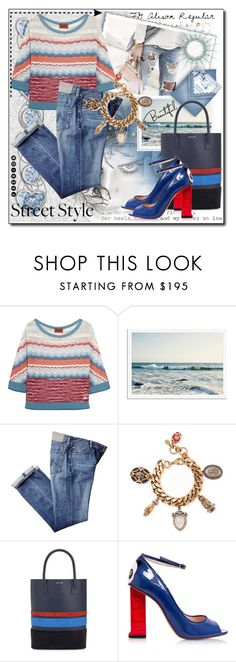 """""""Street style"""" by milenasas ❤ liked on Polyvore featuring bleu, Missoni, Alexander McQueen, Mother of Pearl and Camilla Elphick"""