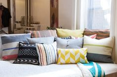 """12 Pro Tips For Decorating Better #refinery29  http://www.refinery29.com/decor-solutions#slide12  Stuff Your Pillows """"Investing in down is well worth it. Use fills that are approximately two to three inches larger than the pillowcase itself to give it a full look. A floppy pillow on a sofa looks tired and drab rather than acting as a statement."""" — Amber Lewis"""