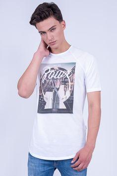 "Longline Raglan T-Shirt In ""Roux"" Print"