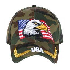 771a9a29a11 Camo Eagle Crest Baseball Cap. Novasox