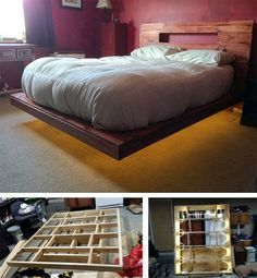 floating bed build instructions diy
