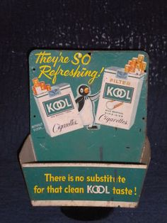 1952 Kool Cigarette tin Store Display