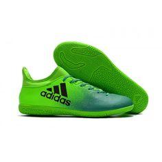 2017 Adidas X 16.3 IC Botas De Futbol Verde Negro 4d151c0c1ce00