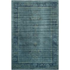 Safavieh Vintage Turquoise Viscose Rug (8' x 11'2)   Overstock.com Shopping - Great Deals on Safavieh 7x9 - 10x14 Rugs