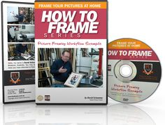 Picture Framing Workflow - In this DVD you will discover how a professional picture framing job flows through the framer's workshop. How to Frame Series