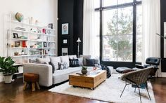 117 Wonderful Loft Living Room Design That Will Change Your Home - Small Space Living, Living Spaces, Loft Design, House Design, Design Design, Design Ideas, Home Living Room, Living Room Decor, Home Interior