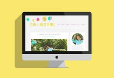Cute and colorful blog branding for Girl Nesting