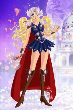 Sailor Thor ~ by Lyris ~ created using the Sailor Senshi doll maker | DollDivine.com