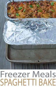 Make ahead freezer meals recipes for easy weeknight cooking. Baked Spaghetti is the perfect weeknight meal or great casseroles to bring to neighbors or friends.