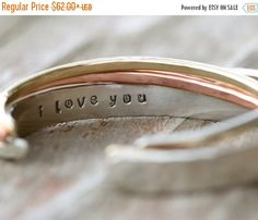 LUCKY SALE Gift / Personalized / Gift For Her / Gift for Wife / I Love You / Love Gift / Inspirational / Love Jewelry by amywaltz #TrendingEtsy