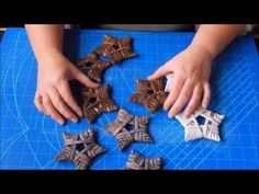 Tutorial : Rustic stars for christmas - YouTube
