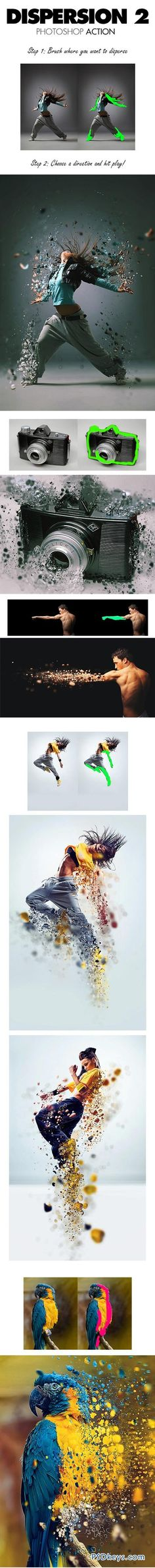 Dispersion 2 Photoshop Action #PhotoshopAction #Photoshop