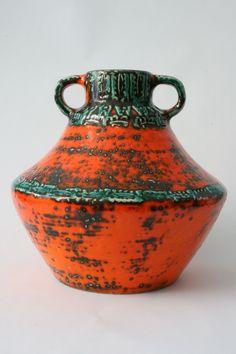 West Germany vase by Spara Glass Ceramic, Ceramic Art, Pottery Vase, Ceramic Pottery, Mcm House, Vintage Vases, Retro Home, Crock, Stoneware