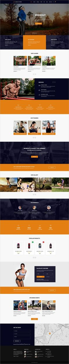 Absolute Fitness is a modern and functional #PSD #Template for #workout sports clubs in different directions: #Fitness, GYM, Bodybuilding, Boxing, Dancing, Yoga, Personal Trainer website with 13 unique homepage layouts and 46 organized PSD pages download now➩ https://themeforest.net/item/absolute-fitness-psd-template/18599187?ref=Datasata