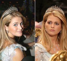 "Princess Madeleine wedding: Which tiara will she wear? - Modern Fringe Tiara (the one she wore and her ""go to"" tiara)"