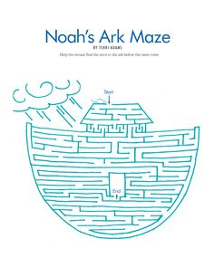noah's ark coloring printable pages | noah s ark maze could be colored september 2004 page