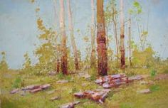 Birches Grove, Landscape oil Painting, Large size Handmade art, one of a kind