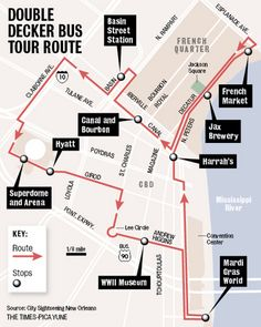 New Orleans trip 2013! Article: Double decker tour buses hit streets of New Orleans