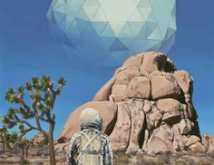 Artist Scott Listfield has a passion for painting. He paints astronauts and, sometimes, dinosaurs, in landscapes of pop culture icons and familiar settings. Culture Pop, Science Fiction, Heart Art, Astronaut, Surrealism, Mount Rushmore, Photos, Images, Landscape