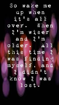Avicii - Wake Me Up - song lyrics, song quotes, songs, music lyrics, music quotes, music