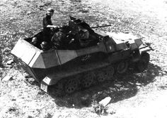 The SdKfz 251/17 half-track, with its specially widened body to allow traverse space for the 20mm anti-aircraft cannon.