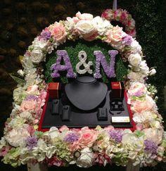 Engagement Ring Platter, Flower Decorations, Wedding Decorations, Bird Cage Centerpiece, Creative Wedding Gifts, Trousseau Packing, Wedding Images, Wedding Ideas, Marriage Decoration