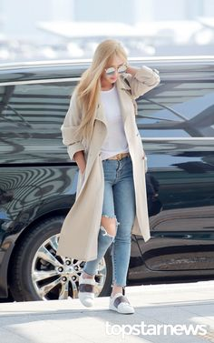 SISTAR Hyorin airport fashion at Incheon Airport [170316]