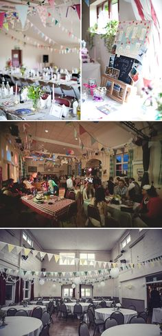 Ideas for decorating a parish hall for the wedding reception