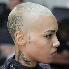 Bald Heads - Hairl Loss Tips Bald Head Tattoo, Scalp Tattoo, Short Hair Cuts, Short Hair Styles, Buzzed Hair, Bald Hair, Going Bald, Bald Women, Hair Tattoos