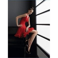 Newest Red Chiffon Party / Evening Dresses /Wedding Gown dress