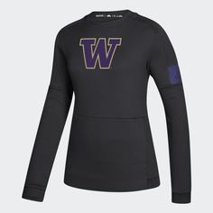 adidas Stay in the comfort zone while you cheer on the Huskies. This crewneck sweatshirt keeps you dry with soft, sweat-wicking fabric. Zip pockets in front hold your phone and keys. School Shirt Designs, School Shirts, Crew Sweatshirts, Crew Neck Sweatshirt, Hoodies, Adidas Hoodie, Adidas Women, Wetsuit, Hoodie