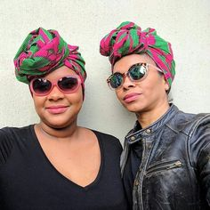 @iamalycianeal sharing the beauty of sisterly love!!! Ceeceesclosetnyc.com  Tags: #headwraps #Headwrap #africanprintaccessories