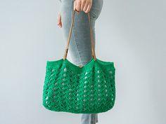 Emerald Green Bag Green Tote Summer Bag Summer Tote by Sudrishta, $79.00