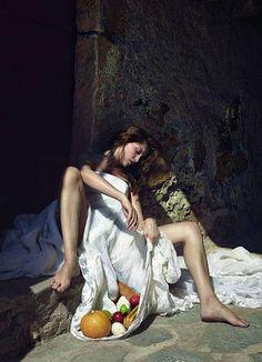 The Age of Innocence...   Vogue Paris, Laetitia Casta,  Cédric Buchet, Renaissance