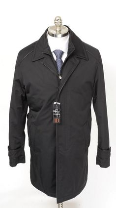 Trench up, in this CORNELIANI ID Black Cotton Water Proof 4Btn Field Coat!  |  Want your own? http://www.frieschskys.com/outerwear  |  #frieschskys #mensfashion #fashion #mensstyle #style #moda #menswear #dapper #stylish #MadeInItaly #Italy #couture #highfashion #designer #shopping