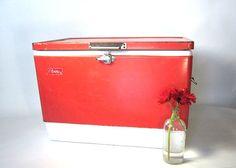 Coleman Cooler Vintage Red by oldgoatandhorse on Etsy, $56.00