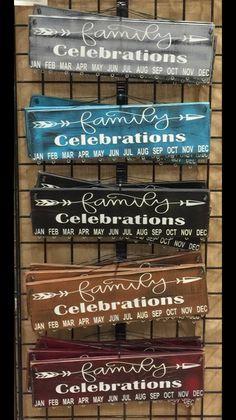 Birthday Calendar - Family Celebrations with Arrow and 30 Circles Birthday Boards Geburtstagstafel. Birthday Reminder Board, Birthday Calendar Board, Family Birthday Board, Birthday Diy, Birthday Signs, Birthday Dates, Card Birthday, Finding A Hobby, Woodworking Shows