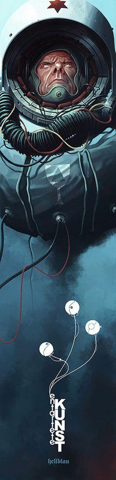 EK03 - Hexagram Blue - Derek Stenning - http://borninconcrete.com