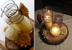 Wire wrapped candles
