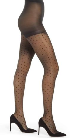 ffff9289de3a5 Commando Sexy Sheers with Lace Waistband H10T14 (Black) Sheer Hose. Sheer  tights you will keep as a wardrobe staple. Fusion technology for r…