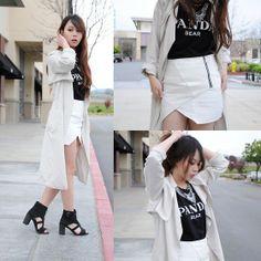 Nylon Shop Top, Endless Rose Skirt, Shellys London Shoes - Panda Bear - Cindy Teng