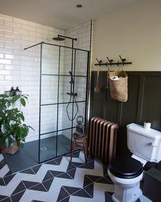 Before and After: Master Bathroom Remodel Photos Metro Tiles Bathroom, Bathroom Layout, Bathroom Interior, Bathroom Goals, Bad Inspiration, Bathroom Inspiration, White Bathroom, Small Bathroom, Master Bathroom