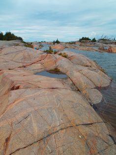 Cool rock formations in Georgian Bay, Ontario. Paddling stop near Killarney. Visit Canada, O Canada, Ontario Parks, Coach Tours, Bay Lake, Train Tour, Lake Huron, Cool Rocks, Arctic Circle