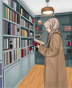 A scarf is the most essential portion within the apparel of girls with hijab. Since it is an essential item i Hijab Anime, Anime Muslim, Girl Cartoon, Cartoon Art, Tmblr Girl, Hijab Drawing, Islamic Cartoon, Hijab Cartoon, Islamic Girl