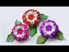Цветы крючком. Crochet flowers. Las flores de ganchillo - YouTube