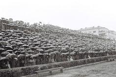 Hajduk Split singing in the rain (1962)